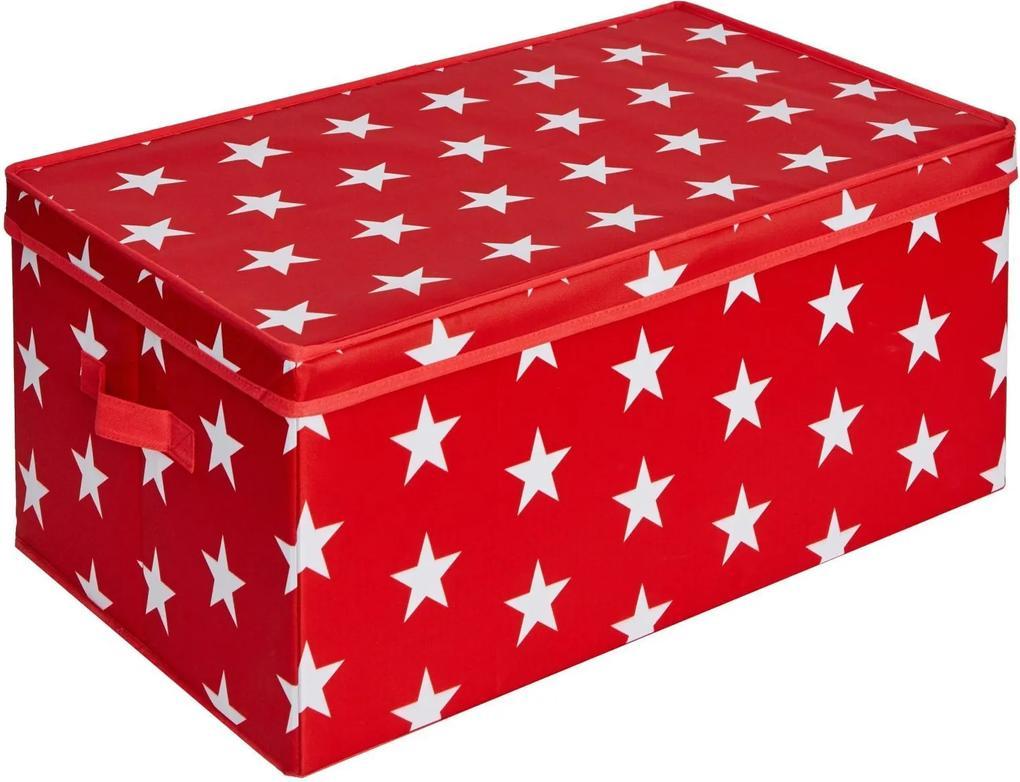 Cutie cu capac pentru depozitare  - Rosu 58x36x25 cm