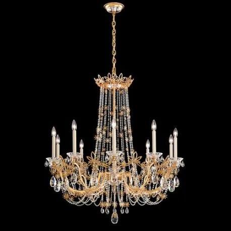 Candelabru 10 brate, design LUX, cristal Heritage Florabella