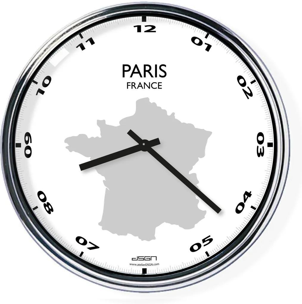 Ceas de birou (deschis sau întunecat) - Paris / Franța, diametru 32 cm | DSGN, Výběr barev Tmavé
