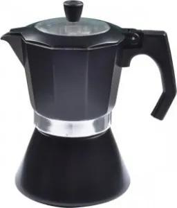 Espressor cafea din aluminiu Zephyr, 600ml, negru, capacitate maxima: 12 cupe
