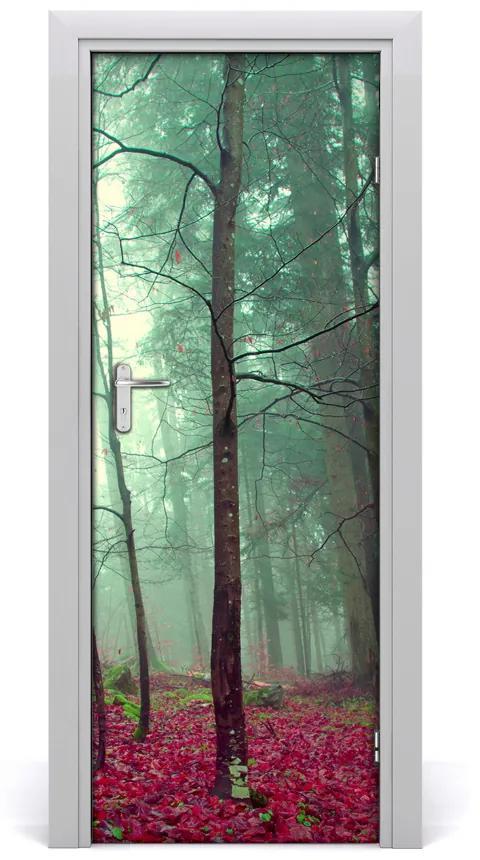 Autocolante pentru usi pădure în toamna