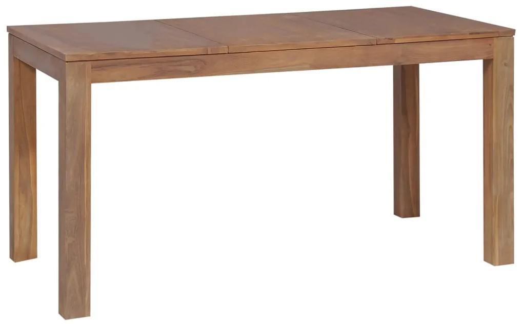 246952 vidaXL Masă din lemn masiv de tec cu finisaj natural, 140 x 70 x 76 cm