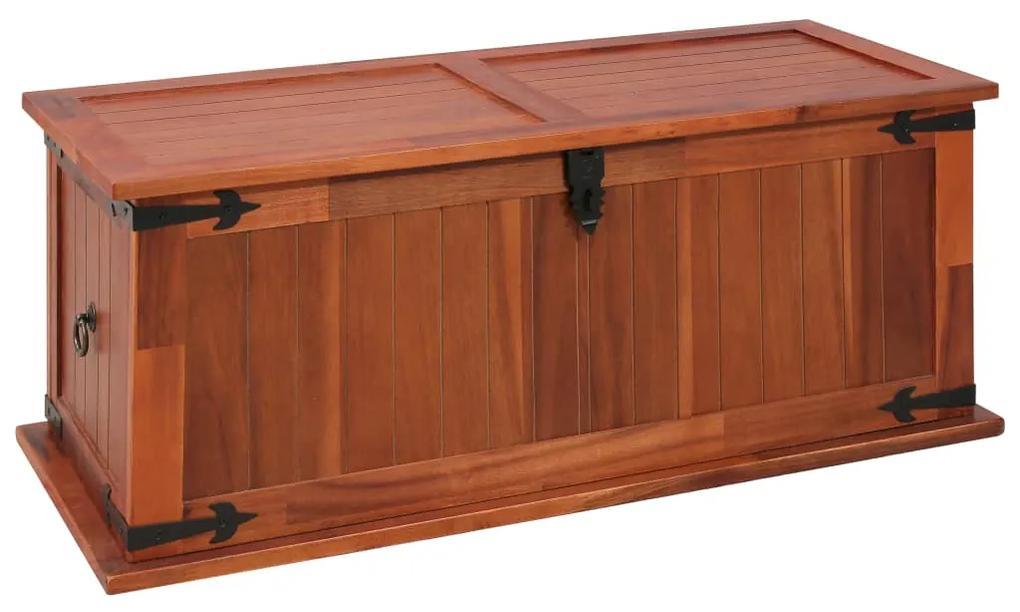 247242 vidaXL Cufăr de depozitare, 90 x 45 x 40 cm, lemn masiv de salcâm
