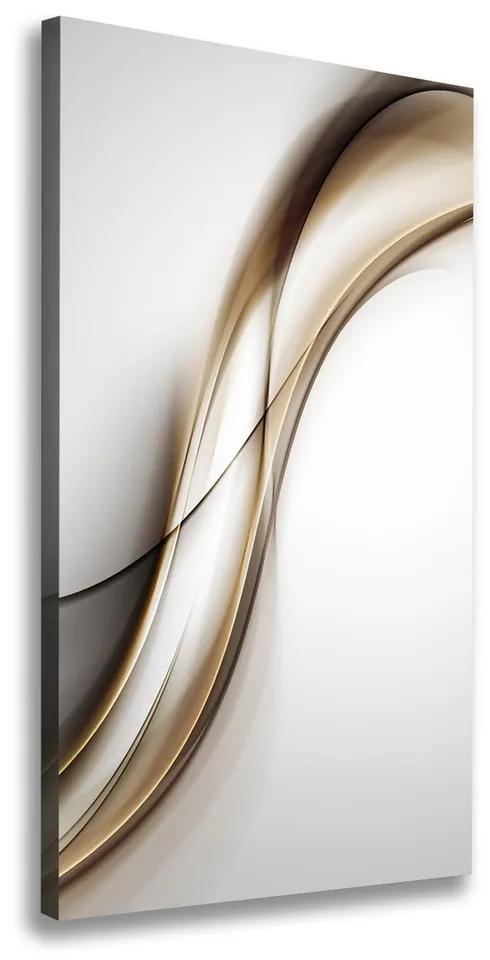 Tablou pe pânză canvas Val brun