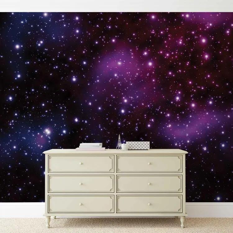 Stars Cosmos Universe Fototapet, (250 x 104 cm)