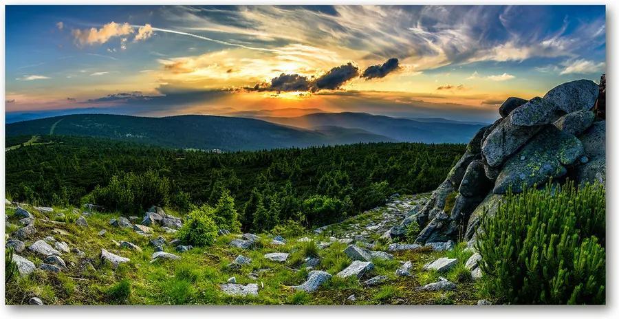 Tablou din Sticlă Panorama de munte