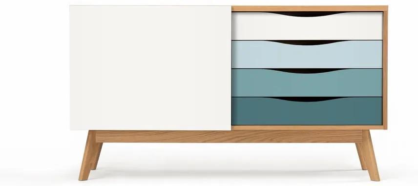 Comodă cu sertare albastre Woodman Avon