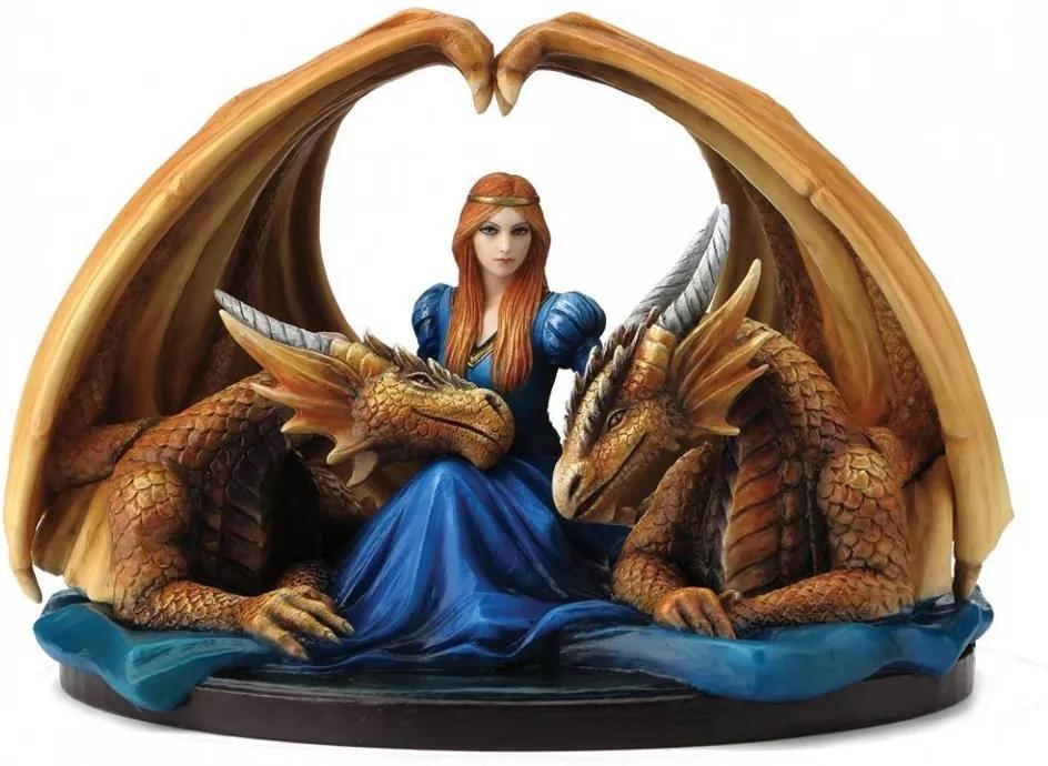 Statueta dragoni Gardieni loiali 20 cm Anne Stokes
