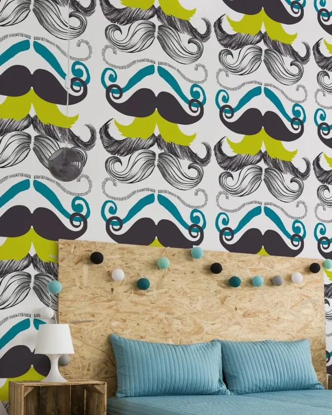 MINDTHEGAP Tapet - Different Moustaches