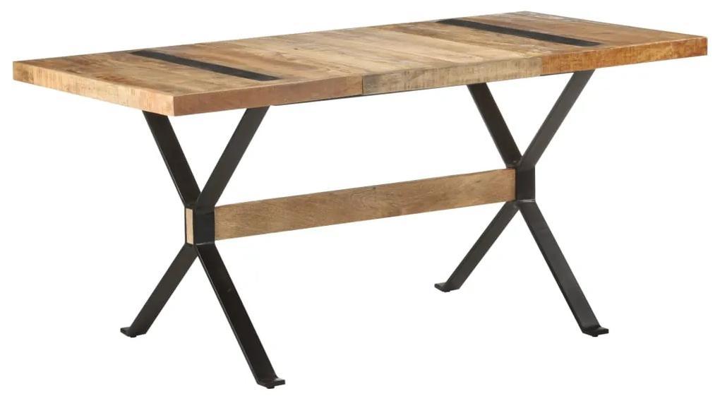321608 vidaXL Masă de bucătărie, 160 x 80 x 76 cm, lemn de mango nefinisat