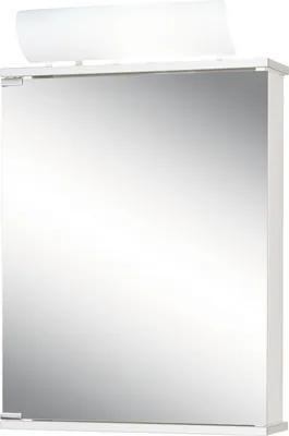 Dulap cu oglinda Jokey Entro, cu iluminare, 50x74 cm, alb/aluminiu, IP 20