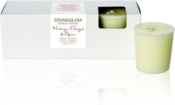 Set cadou lumânare și difuzor cu aromă de nucșoară și ghimbir Stoneglow