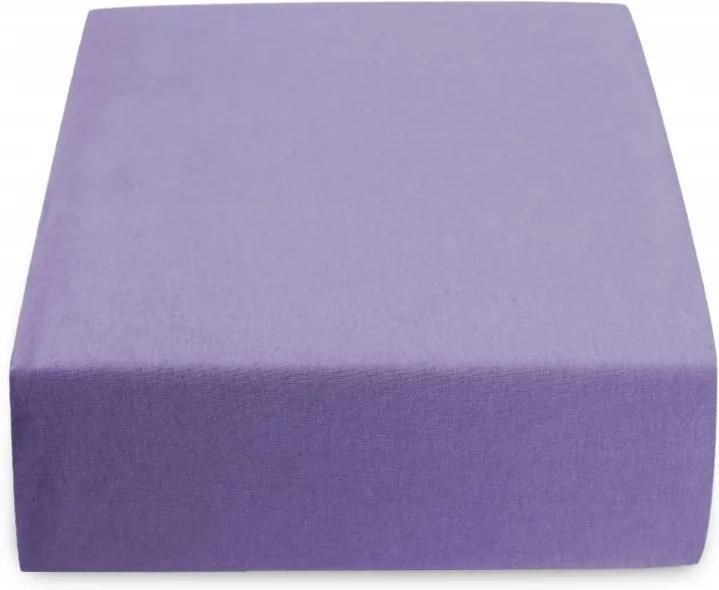 Cearșaf Jersey violet închis 160 x 200 cm