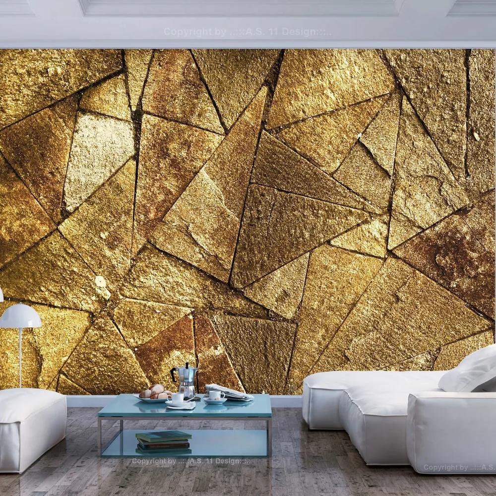 Fototapet - Pavement Tiles (Golden)