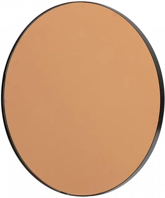 Oglinda rotunda neagra din fier 50 cm Drew