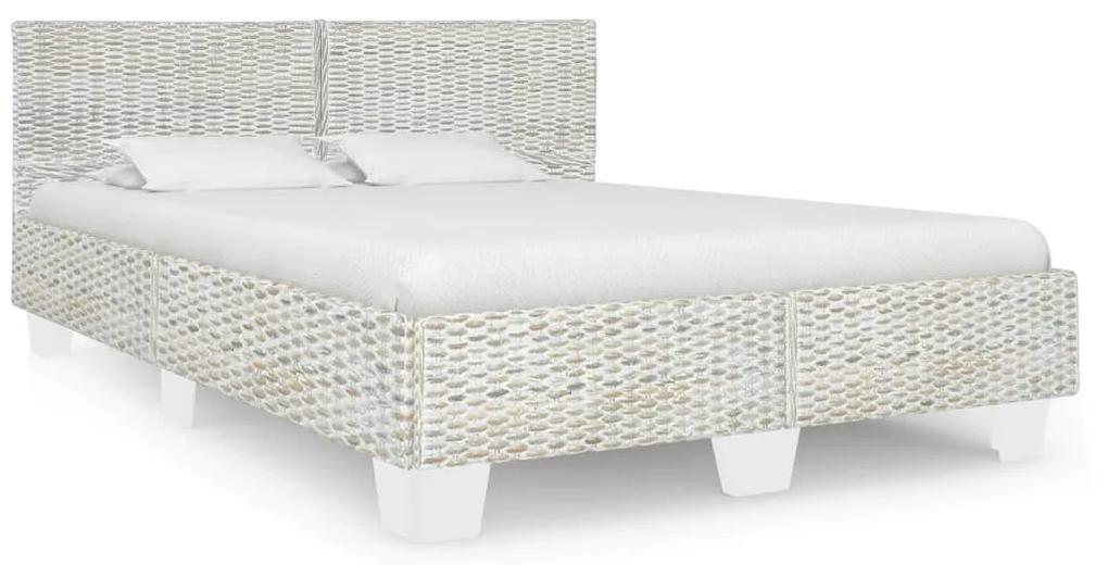 283092 vidaXL Cadru de pat, gri, 160 x 200 cm, ratan natural