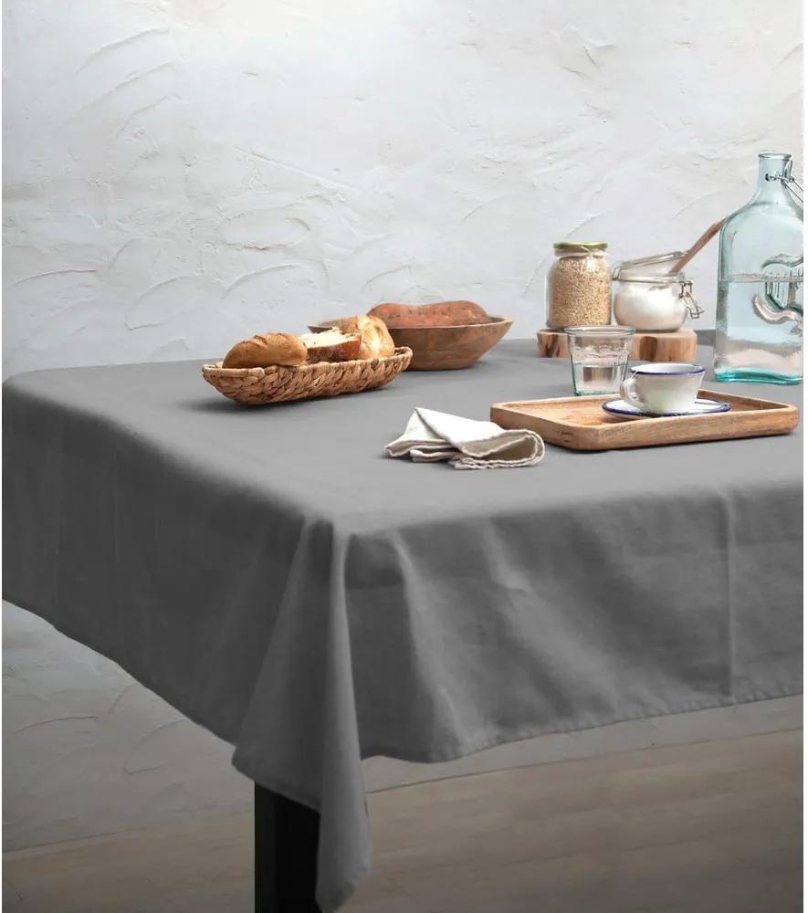 Față de masă Linen Couture Cool Grey, 140 x 140 cm
