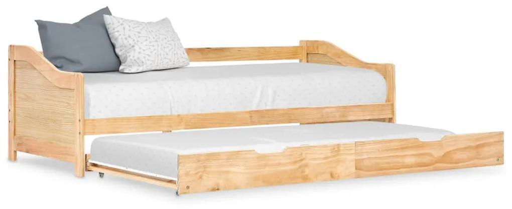 283150 vidaXL Cadru pat canapea, extensibil, 90 x 200 cm, lemn de pin