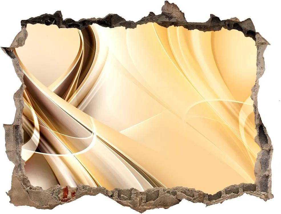Fototapet 3D gaură în perete Valuri abstracte