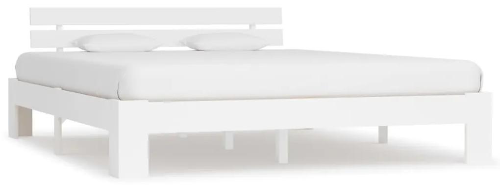 283159 vidaXL Cadru de pat, alb, 180 x 200 cm, lemn masiv de pin