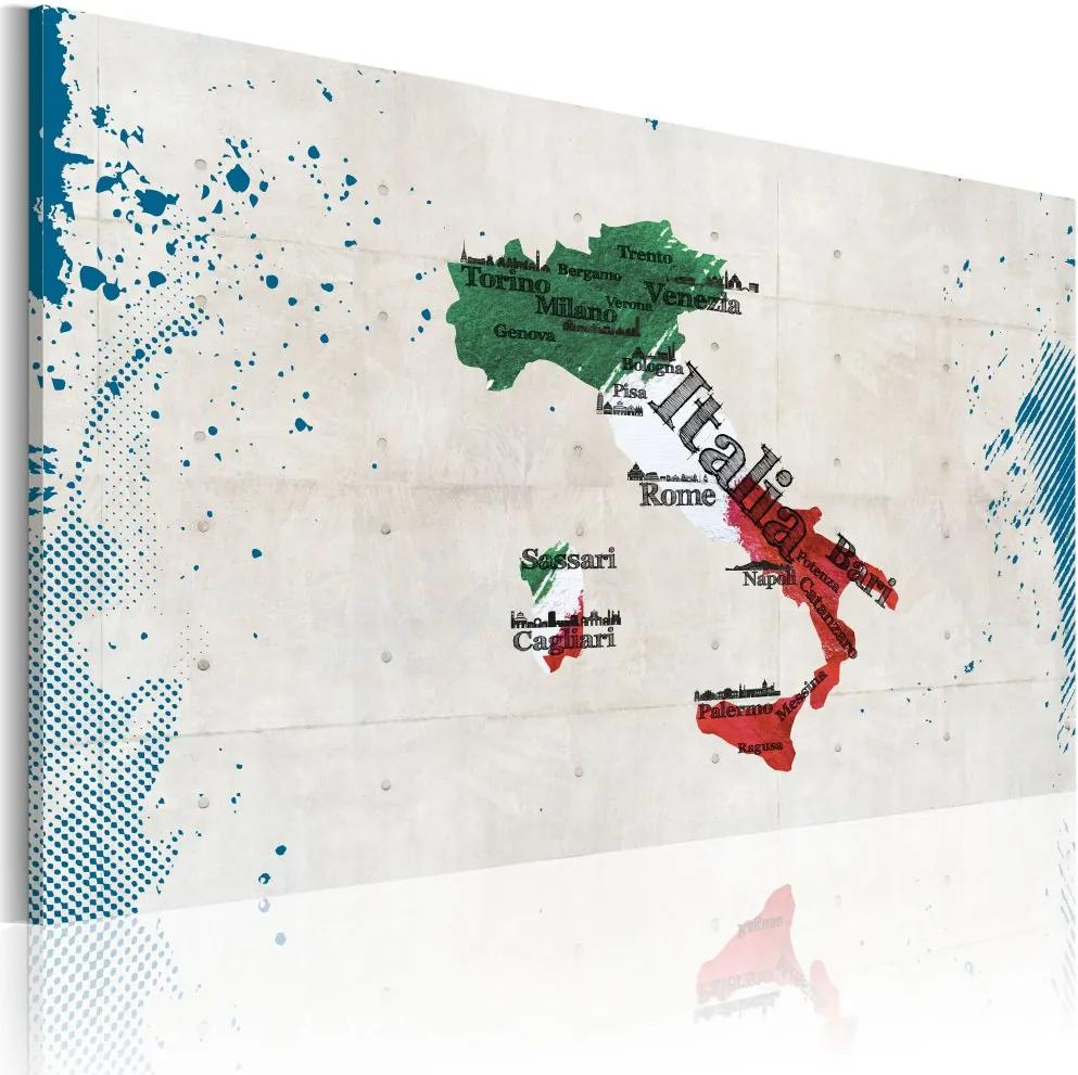 Tablou - Map of Italy 60x40 cm