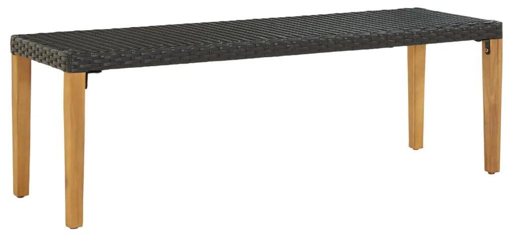 46486 vidaXL Bancă de grădină, negru, 80 cm, poliratan