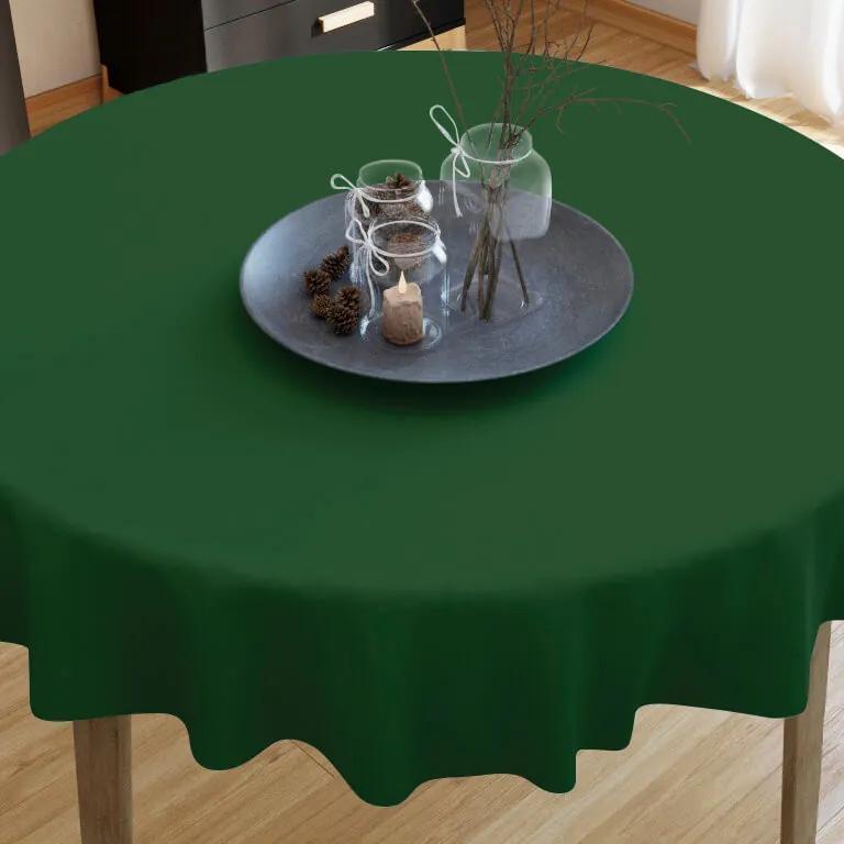 Goldea față de masă din bumbac verde închis - rotundă Ø 60 cm