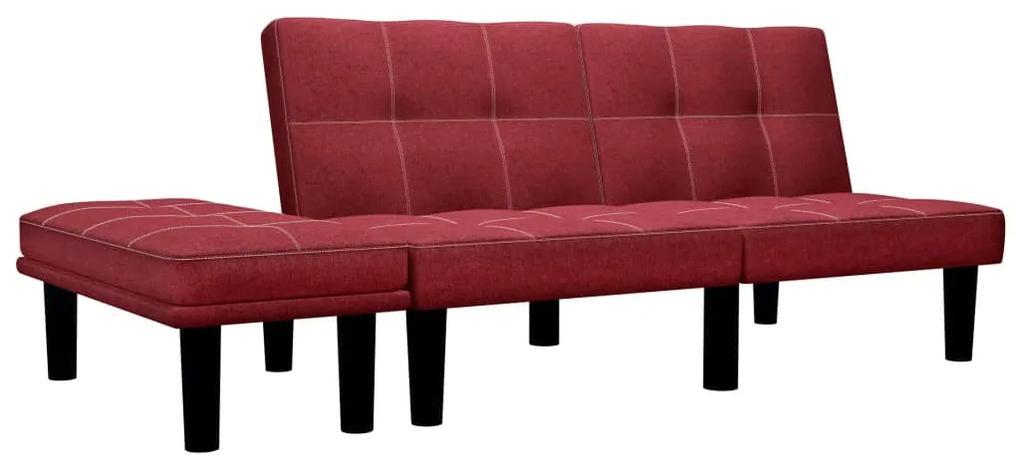 284756 vidaXL Canapea cu 2 locuri, roșu vin, material textil