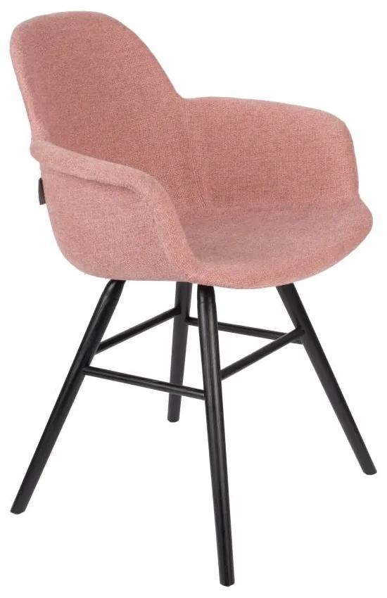 Scaun dining roz cu brate Albert Kuip Soft Pink