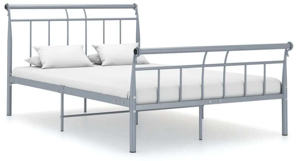 325038 vidaXL Cadru de pat, gri, 120x200 cm, metal