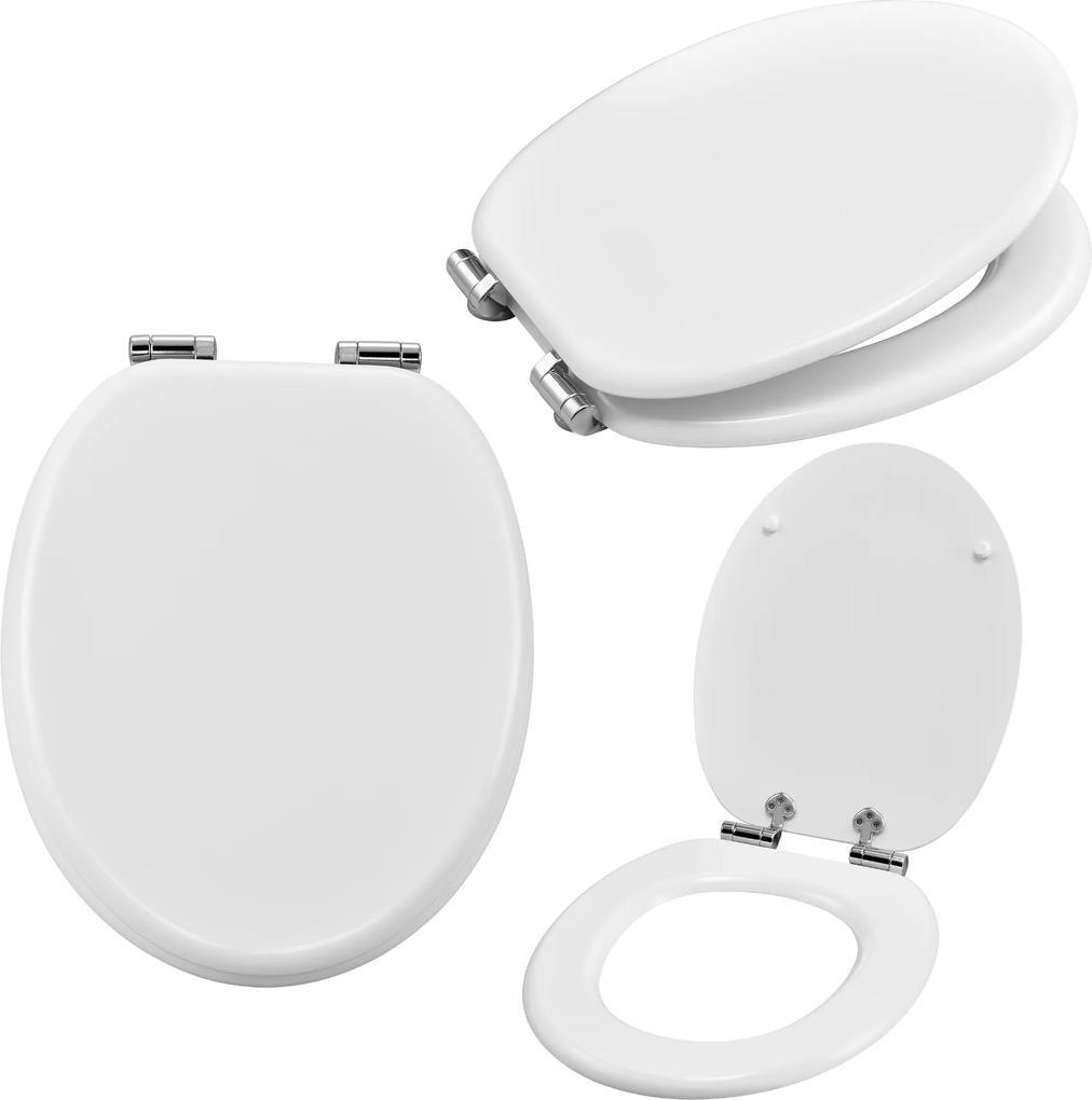 [neu.haus]® Capac WC - functie - Soft-Close - alb