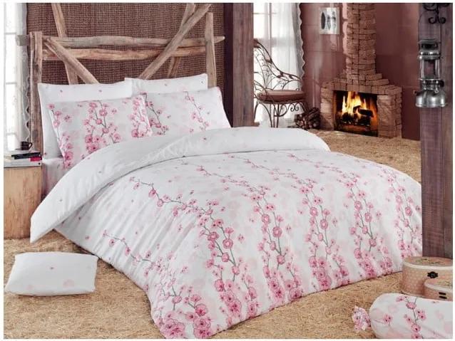 Lenjerie de pat Coretta, 140 x 200 cm, roz