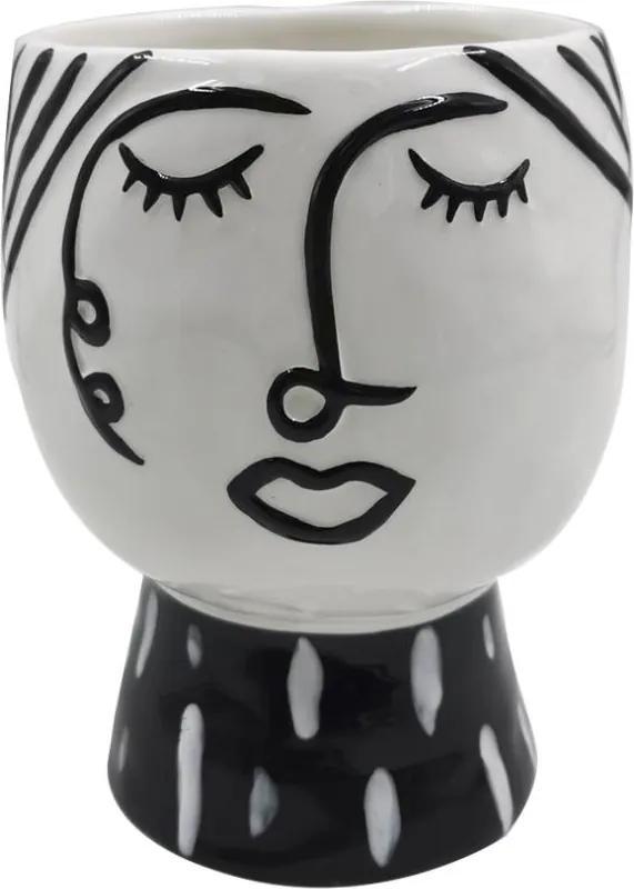 Vaza din portelan Pot Face Ø14x18,2 cm Mauro Ferretti