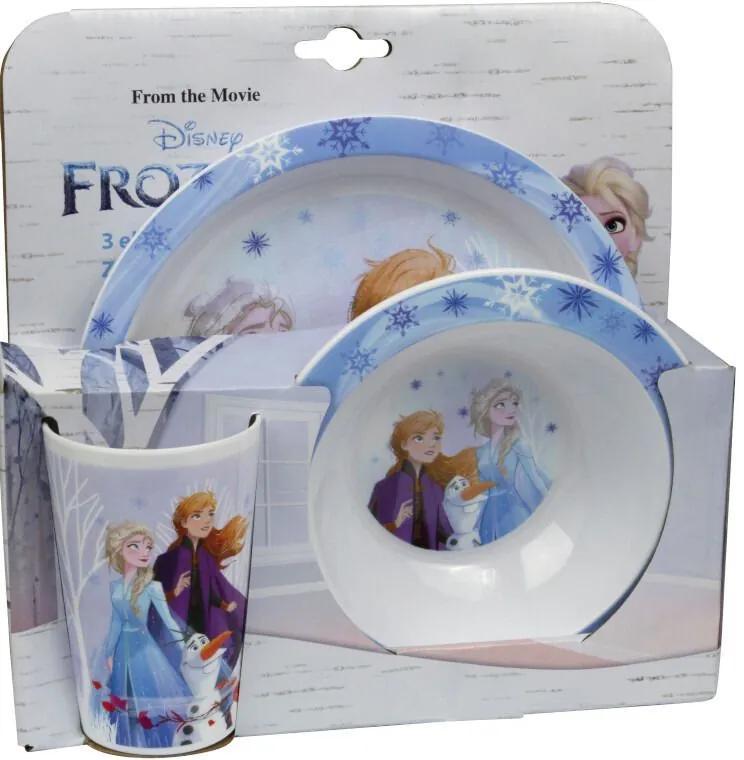 Set 3 piese mic Dejun Frozen II blue
