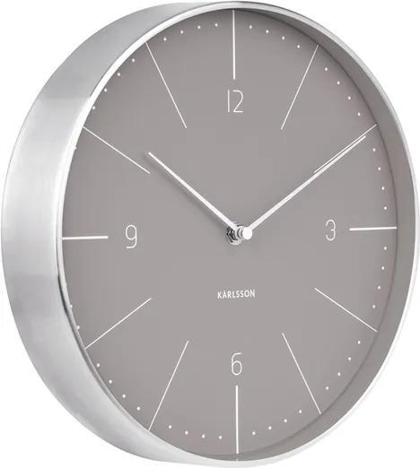 Ceas de design, de perete, Karlsson 5682GY, 28 cm