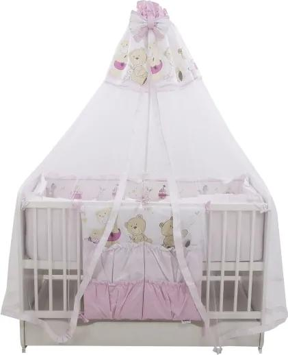 Lenjerie Teddy Play Pink M2 7 piese 120x60 cm