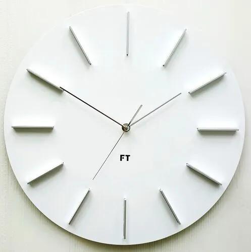Ceas de perete design Future Time FT2010WH Round  white, pr. 40 cm