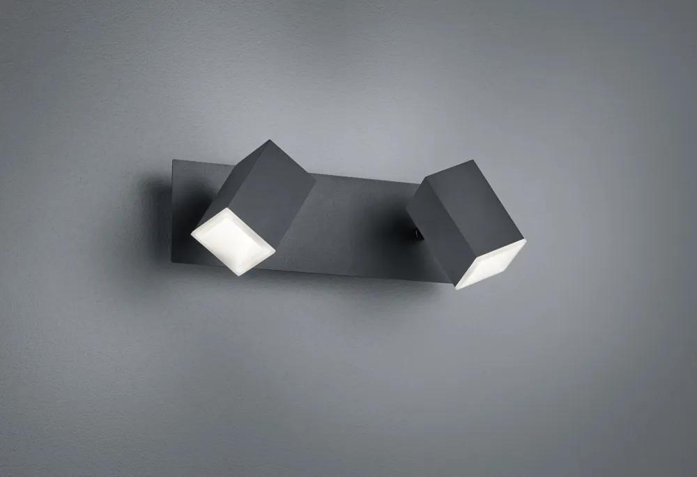 Trio 827890232 Aplice perete LAGOS negru mat metal incl. 2 x SMD, 6W, 3000K, 550Lm 550lm IP20 A+