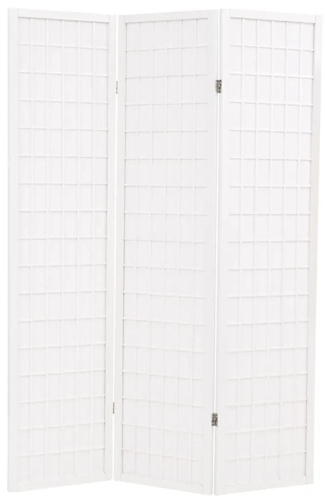 245905 vidaXL Paravan pliabil cu 3 panouri, stil japonez, 120x170 cm, Alb