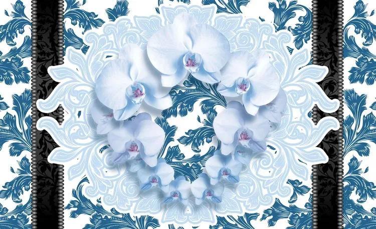 Flowers Floral Pattern Fototapet, (368 x 254 cm)