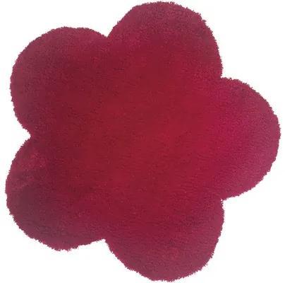 Covoras in forma de floare rosu 60 cm