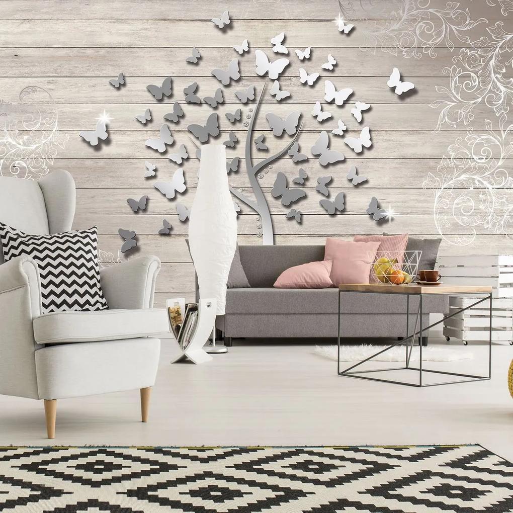 Fototapet - Copac cu fluturi (152,5x104 cm), în 8 de alte dimensiuni noi