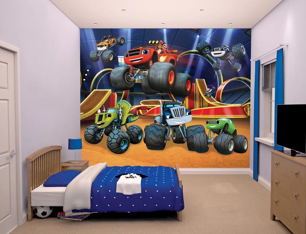 Walltastic Plamínek a čtyřkoláci - fototapet pe perete 305x244 cm