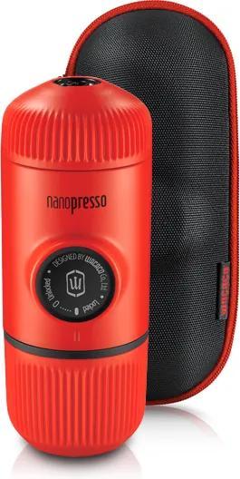 Aparat de cafea portabil Wacaco Nanopresso (roșu) + carcasă solidă
