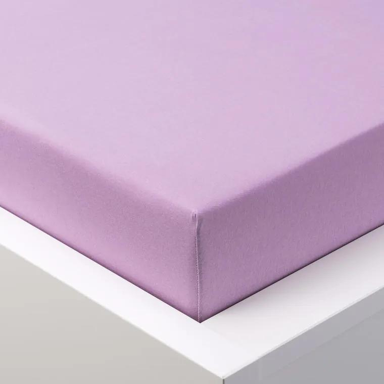 Cearşaf cu elastic frotir EXCLUSIVE violet deschis pat simplu 2 buc