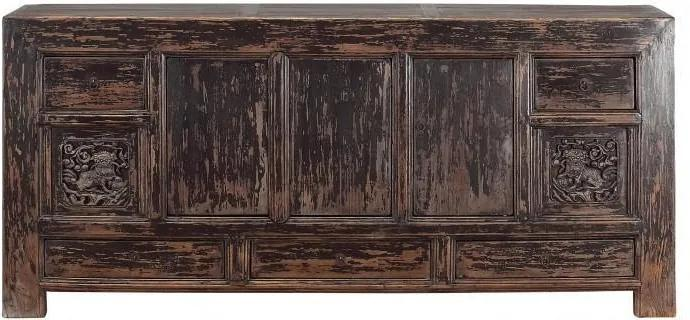 Bufet inferior din pin maro 200 cm Sideboard