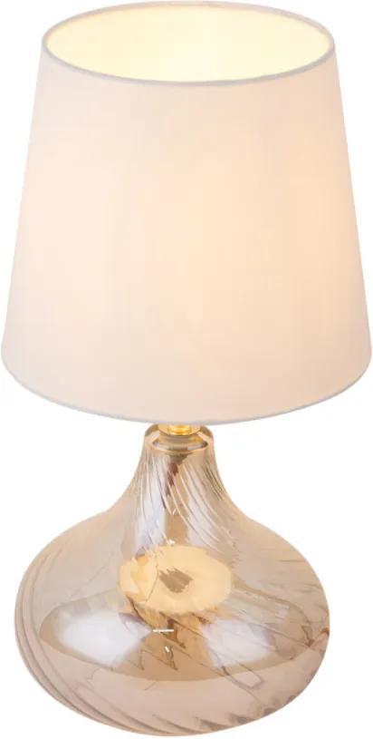 Globo 24000AC Veioze, Lampi de masă JOHANNA ambra sticlă 1 x E27 max. 60W IP20