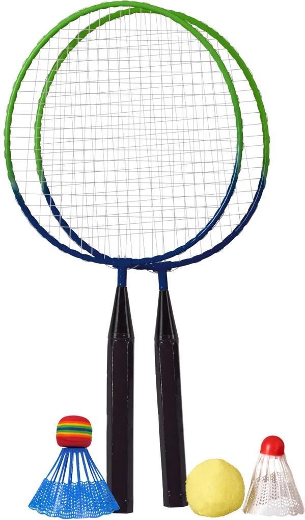 Set de Bedminton Best Sporting pentru Copii, cu Rachete, Fluturasi si Minge, Lungime 46 cm
