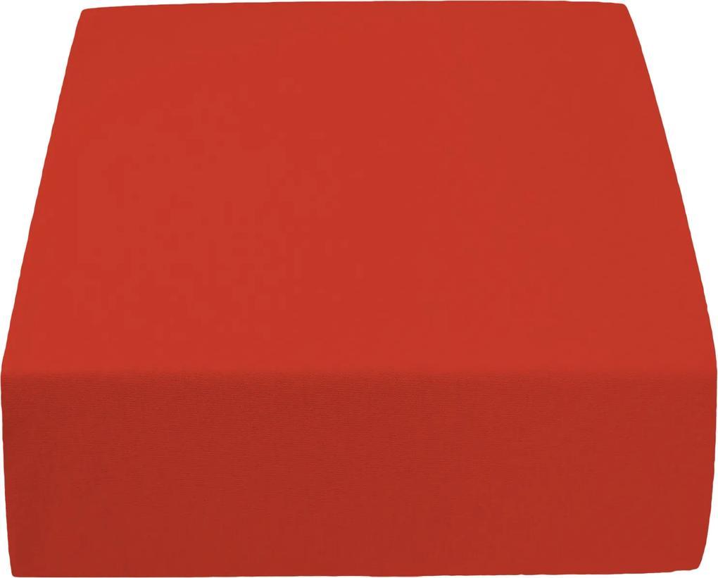 Cearșaf Jersey roșu 140 x 200 cm