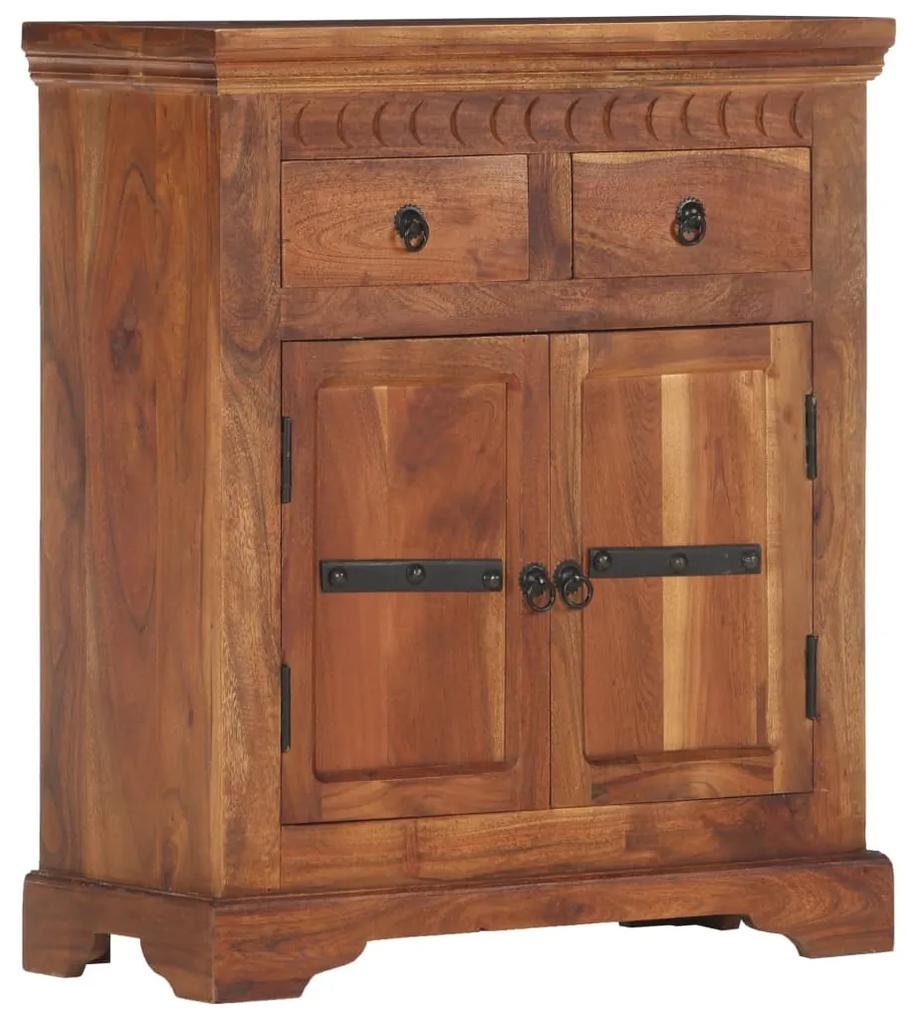 248005 vidaXL Servantă, 63 x 30 x 75 cm, lemn masiv de acacia